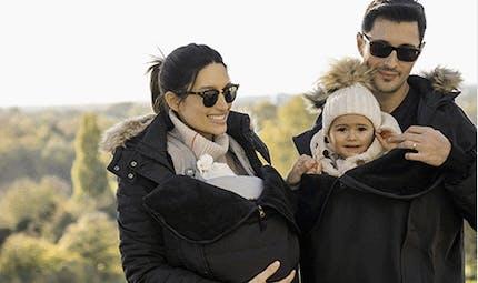 Des manteaux de portage de bébé pour maman et papa