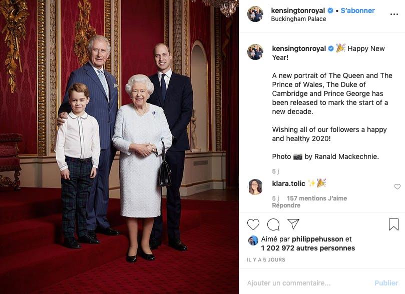 La royauté d'Angleterre sur 4 générations (mais sans Harry)