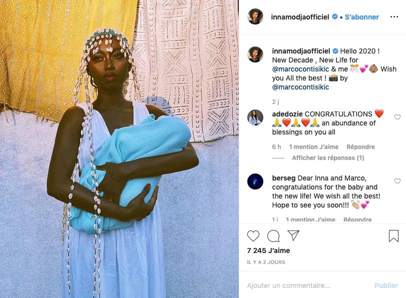 La chanteuse Inna Modja est maman pour la première fois !