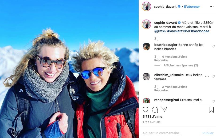 Sophie Davant : mère et fille au sommet