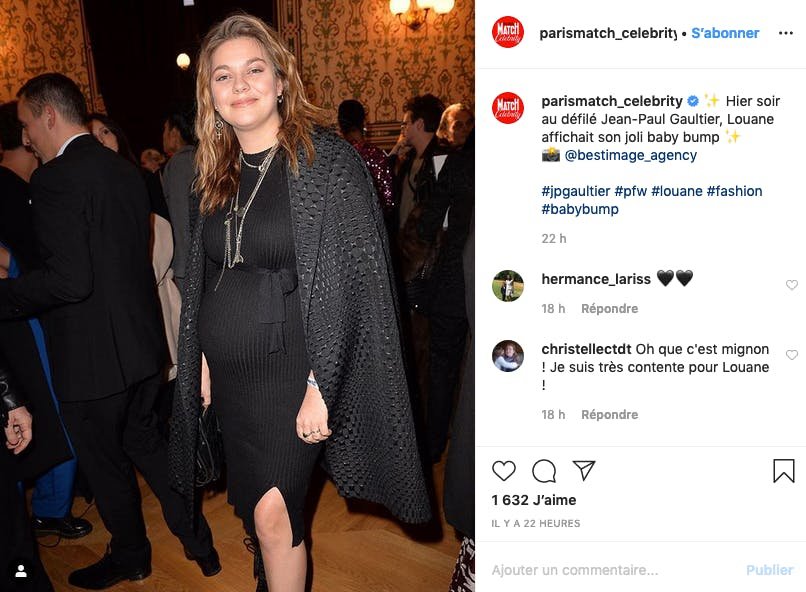 A 23 ans, Louane attend son premier enfant !