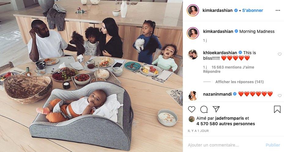 Kim Kardashian et Kanye West : famille nombreuse
