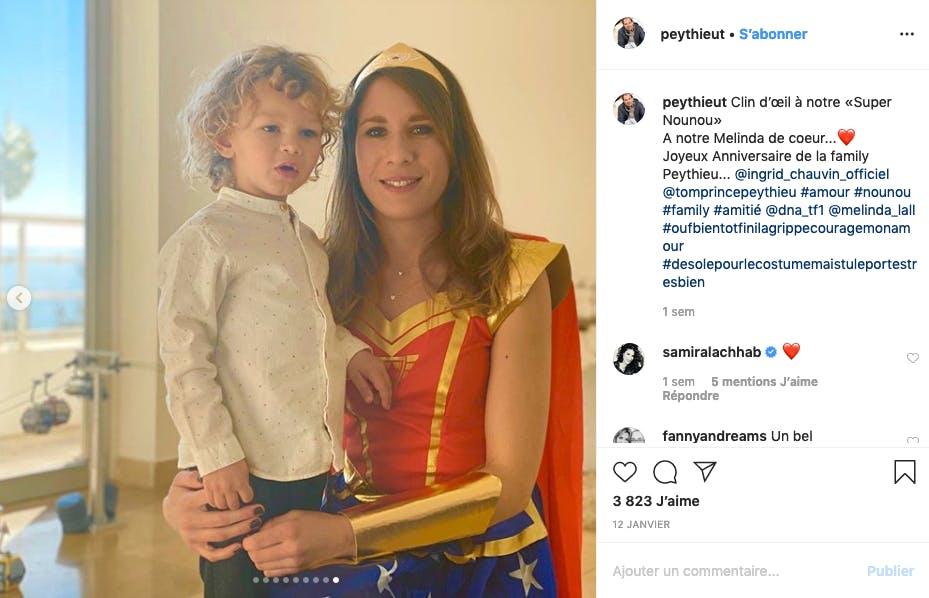 Le fils d'Ingrid Chauvin a VRAIMENT une super-nounou !