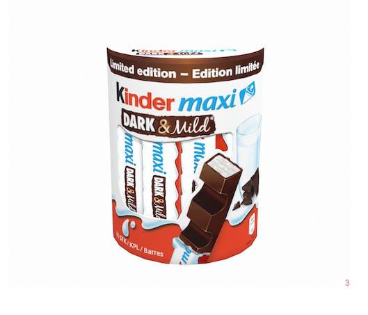 #GOÛTER Des barres de Kinder Maxi au chocolat noir !