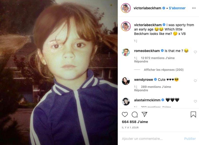 Victoria Beckham n'a pas toujours été une pointure de la mode