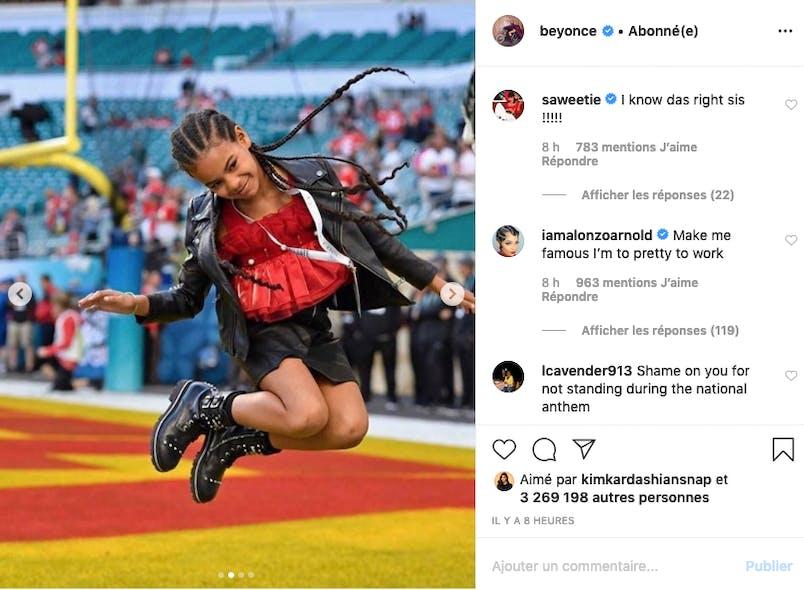 Beyoncé : Blue Ivy saute de joie au Super Bowl