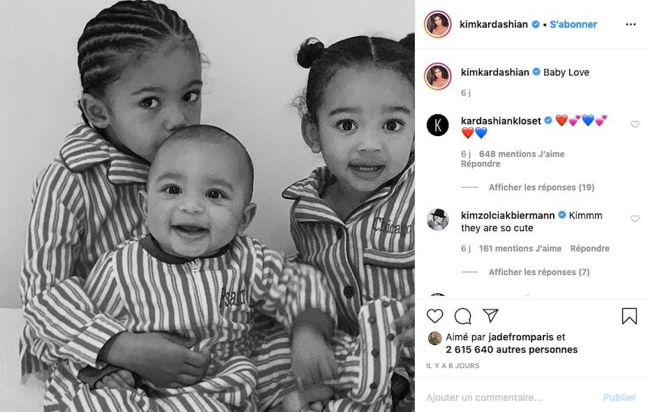 Kim Kardashian : trois petits choupinous