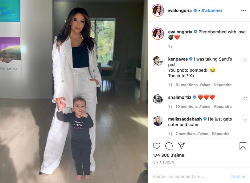 Santiago s'incruste sur la photo de maman