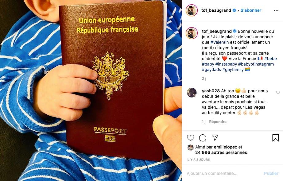 Christophe Beaugrand : après une naissance aux USA, Valentin est officiellement Français !