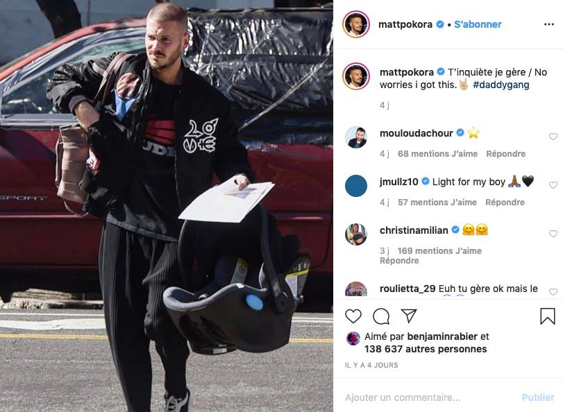 Matt Pokora : sac à langer, check / siège auto, check / bébé ? BÉBÉ !!!
