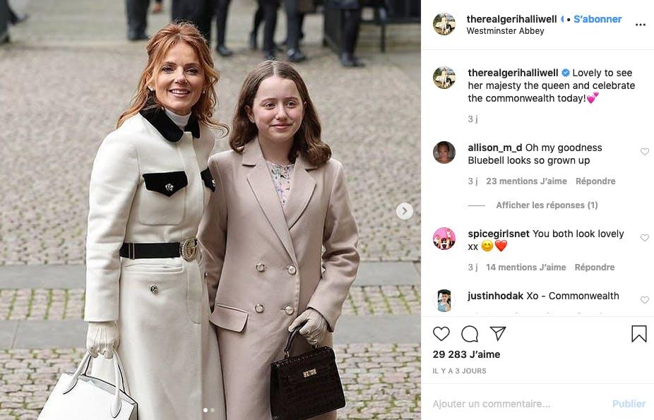 Gery Halliwell et sa fille prêtes pour honorer la famille royale