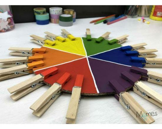 1 Inspiration Montessori: le jeu des pinces à linge