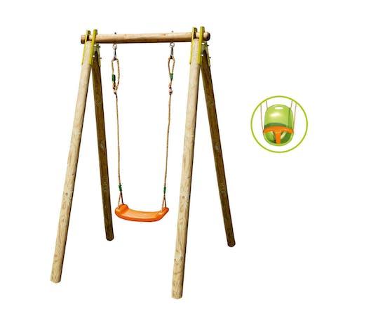 La balançoire Portique évolutif 1 personne, avec siège-bébé inclus