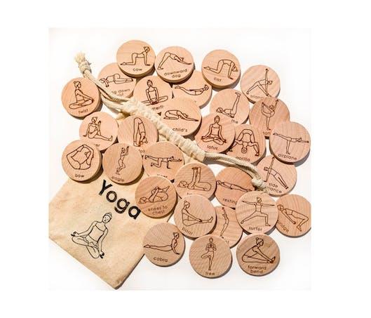 #JEU de yoga pour enfants en bois