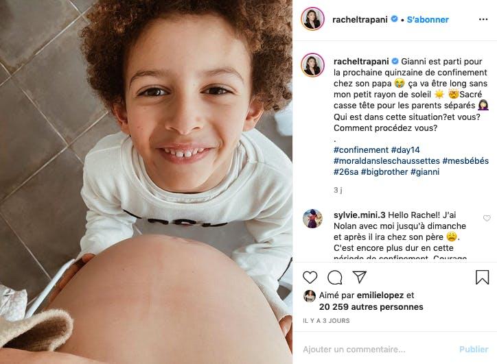 Rachel Legrain-Trapani dit aurevoir à son fils qui part poursuivre le confinement chez son papa
