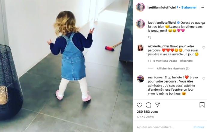 Laetitia Milot : sa fille Lyana heureuse de rester à la maison avec papa et maman !