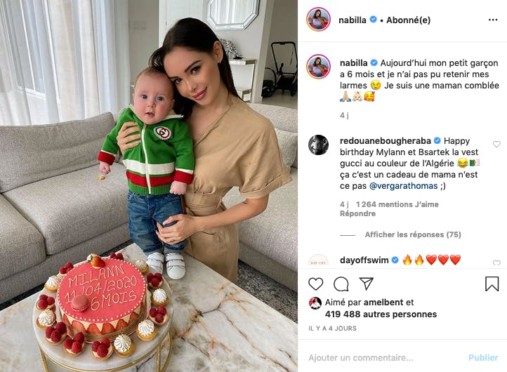 Nabilla : Milann a fêté ses 6 mois !