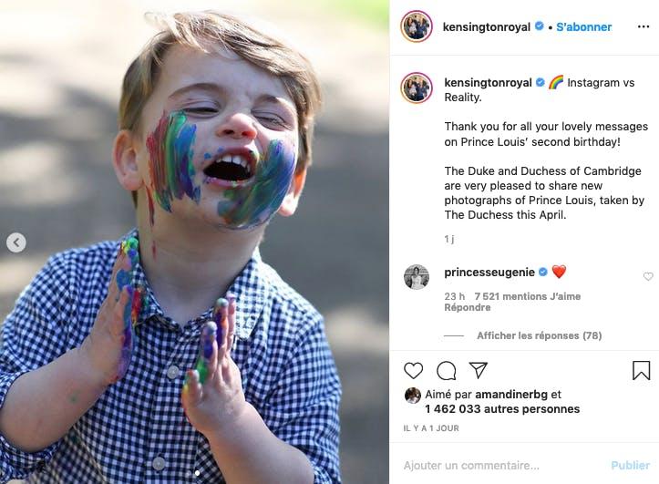 Kate Middleton : le prince Louis a deux ans !