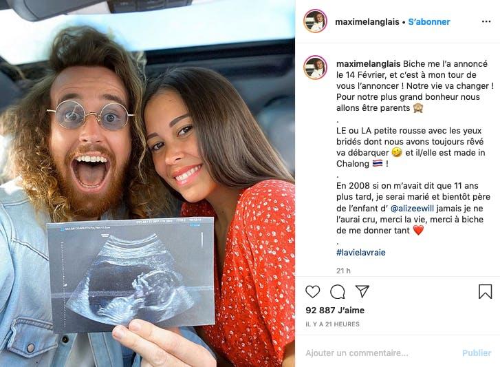 Alizée et Maxime (Pékin Express) attendent leur premier enfant (et ils sont contents)