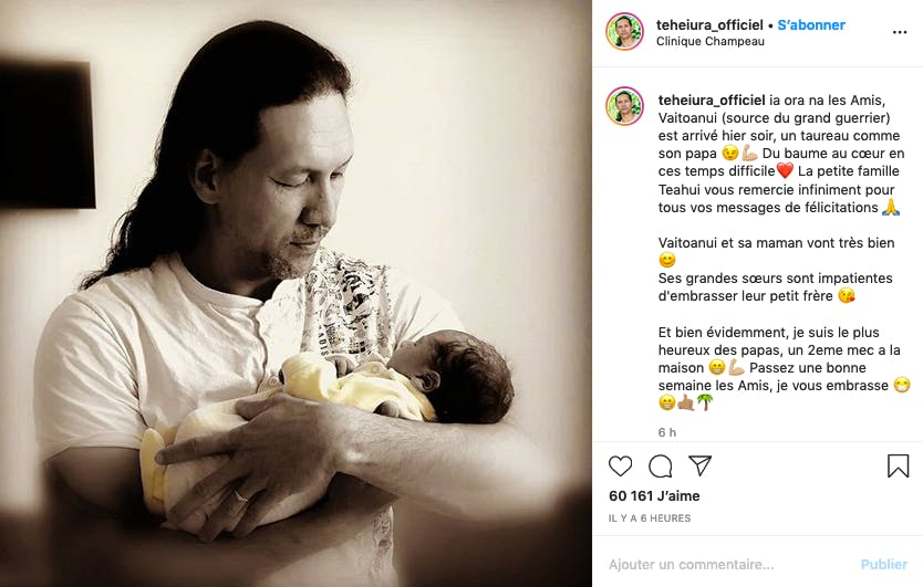 Teheiura, le guerrier de Koh-Lanta est devenu papa pour la quatrième fois