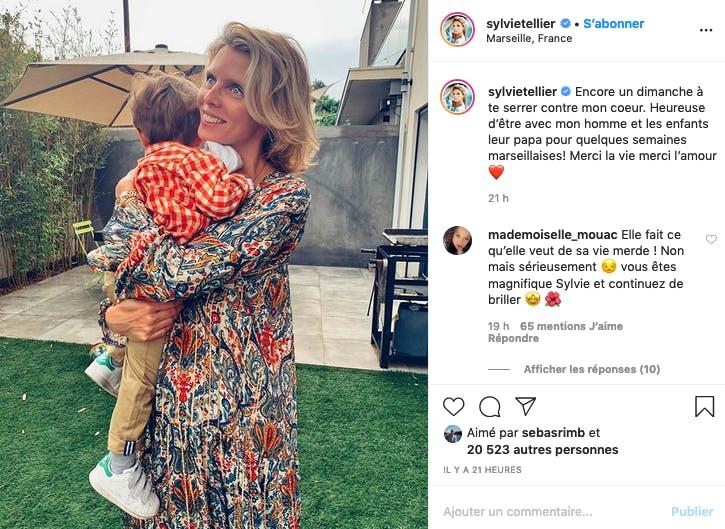 Déconfinée en famille à Marseille, Sylvie Tellier est heureuse, malgré les critiques des internautes