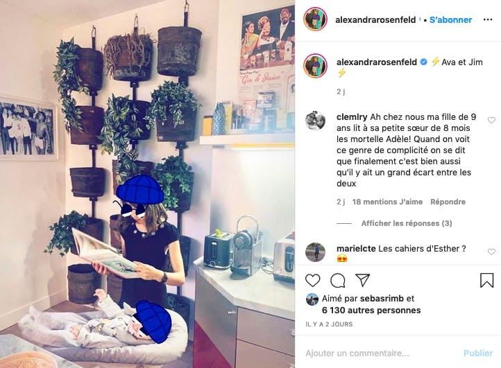 Alexandra Rosenfeld fière de ses deux filles, Ava et Jim
