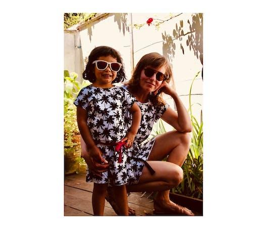 La robe anti-UV mère-fille