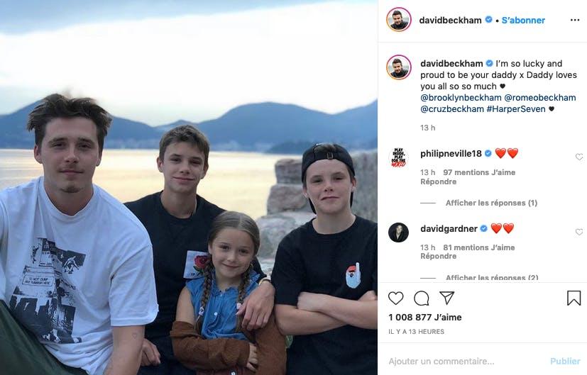 Les beaux enfants de David et Victoria Beckham