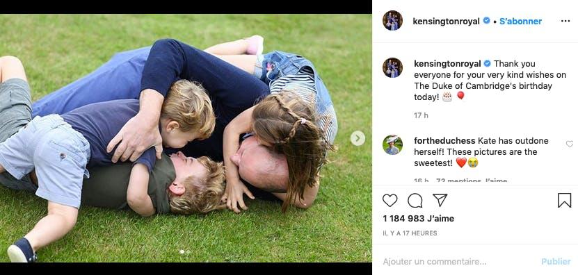 Le prince Harry croulant sous ses trois enfants