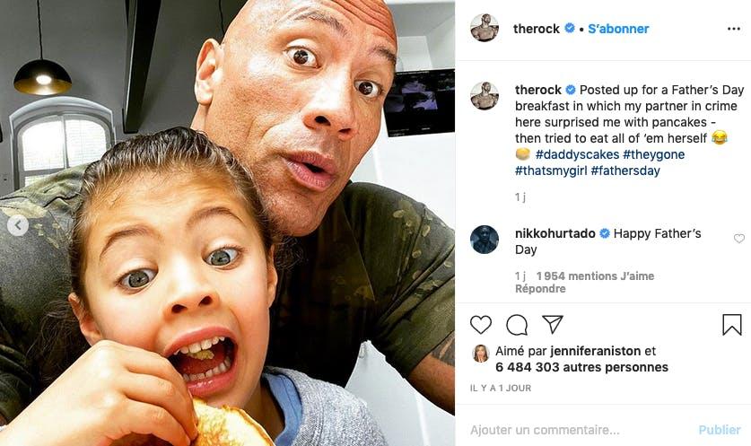 The Rock : selfie père-fille