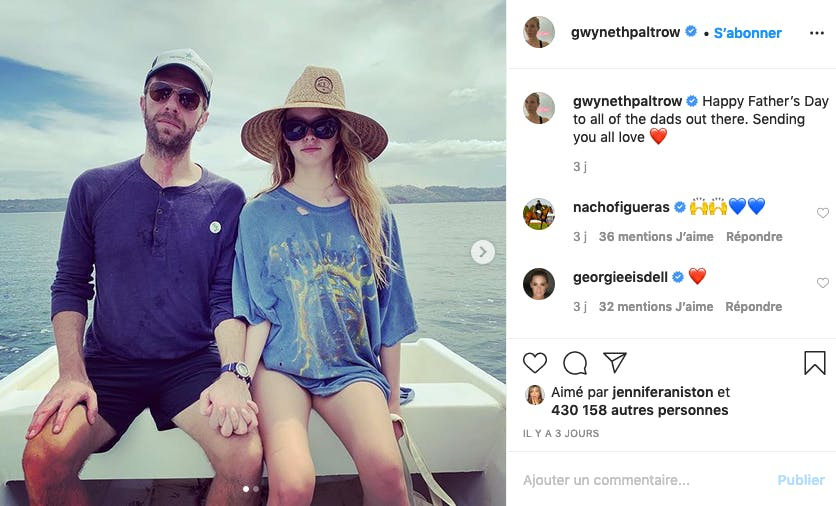 La fille de Gwyneth Paltrow avec son papa le chanteur Chris Martin