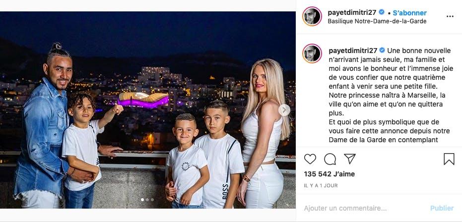 Dimitri Payet : après 4 garçons, bientôt une fille !