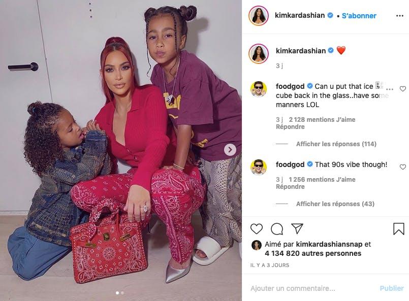 Kim Kardashian soutenue par North et Saint