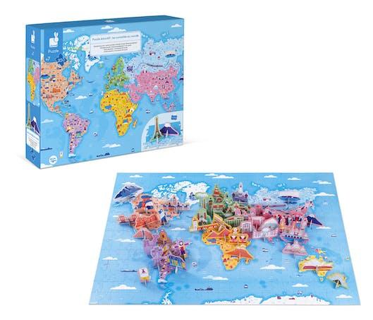 Puzzle éducatif « les curiosités et merveilles du monde »