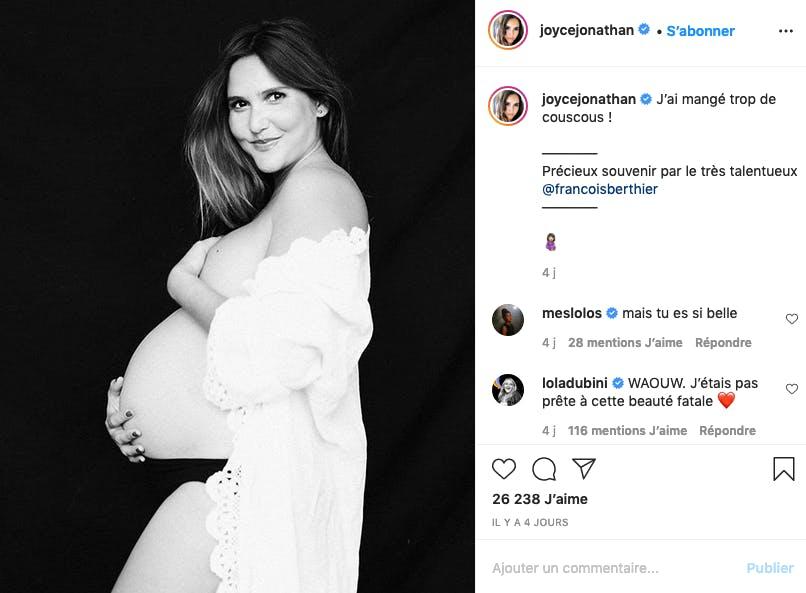 Joyce Jonathan : la grossesse avance