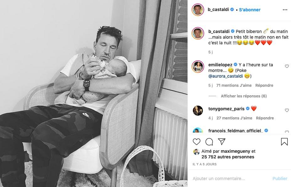 Benjamin Castaldi : papa gaga, papa sommeil...