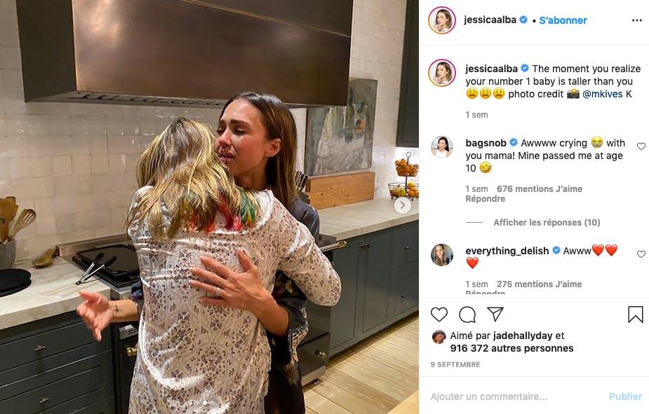 Jessica Alba émue (ou triste ?) : sa fille est désormais plus grande qu'elle !