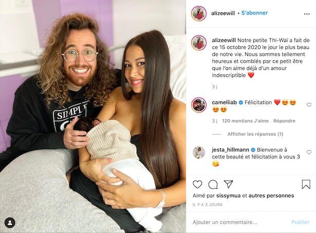 Alizée et sa famille