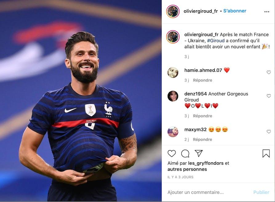 Joueur de l'équipe de France : Olivier Giroud