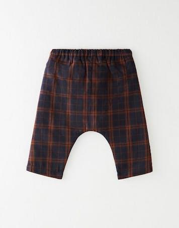 Pantalon sarouel à carreaux garçon