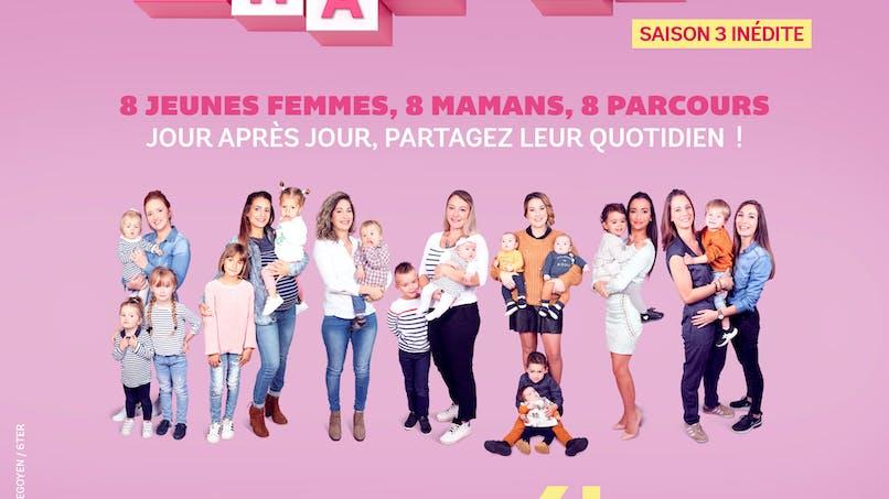 """Série """"Les Mamans"""" sur 6ter : Justine donne le bain aux jumelles"""