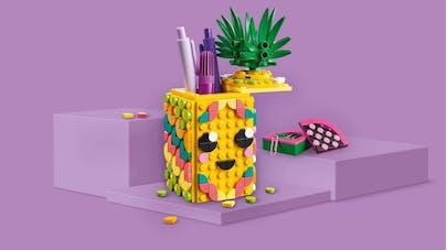 LEGO DOTS pot à crayons ananas DIY