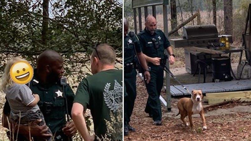Perdu dans les bois, un petit garçon de 3 ans est protégé par son chien