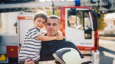 enfant et pompier