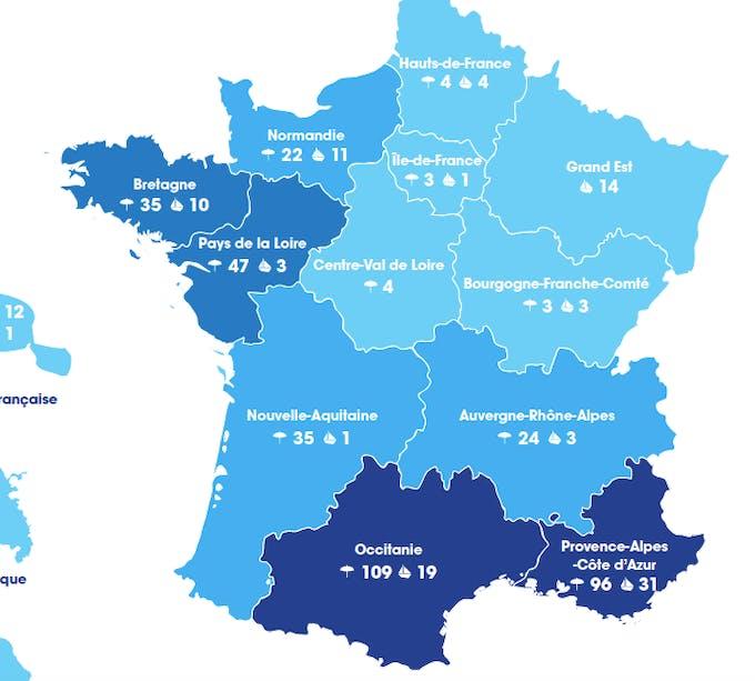Carte Pavillon Bleu 2020