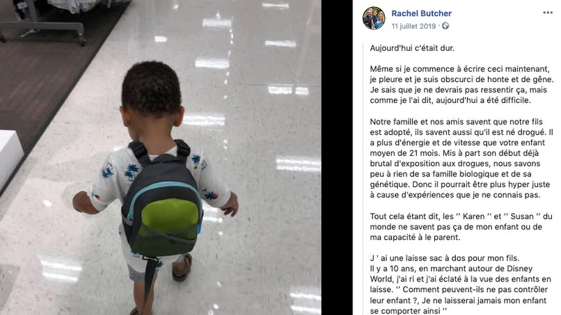 Critiquée, une maman explique pourquoi elle attache une laisse à son enfant