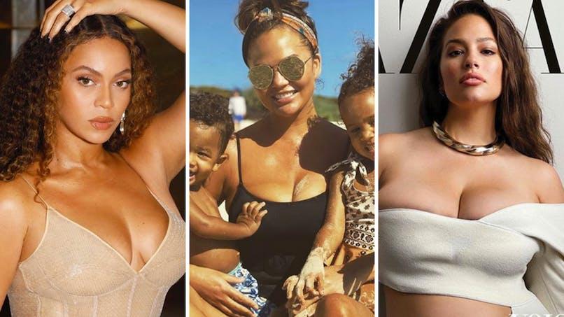 Body positive : ces mamans stars qui assument leur corps post-grossesse