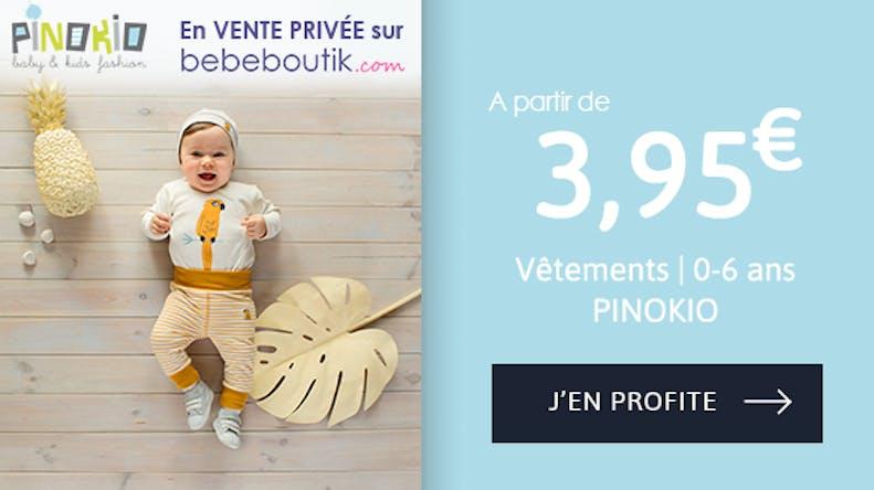 Les vêtements à partir de 3,95€