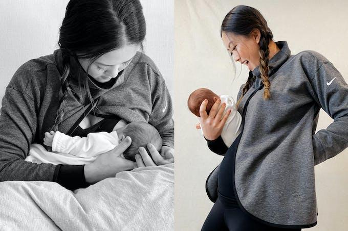 La golfeuse Michelle Wie West, qui a accueilli sa fille Makenna le 19 juin 2020