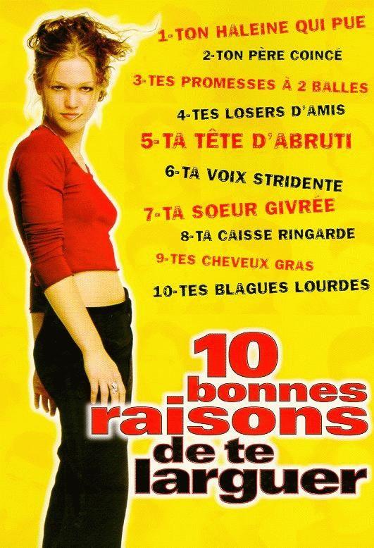 Affiche 10 Bonnes raisons de te larguer